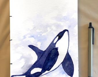 Handmade Whale Notebook