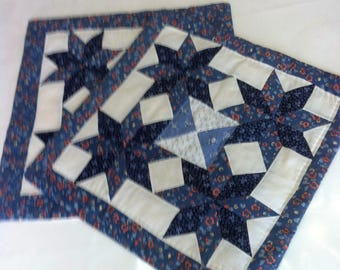 2 cushion covers, handmade, patchwork