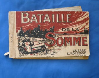 Battle of the Somme. Postcard Booklet. French Postcards. WW1