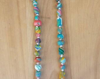 Colorful handmade beads