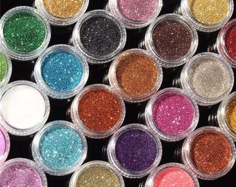 30pcs Mixed Colors Powder Pigment Glitter Mineral Spangle Eyeshadow Makeup Cosmetic Set