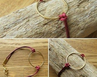 Waxed cotton bracelet 17567