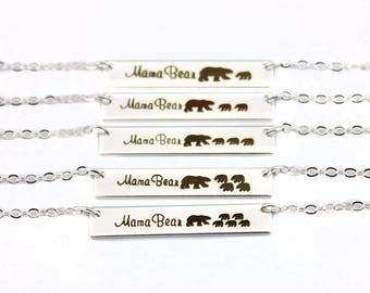 Mama Bear and Cubs Necklace: Choose Your Cubs