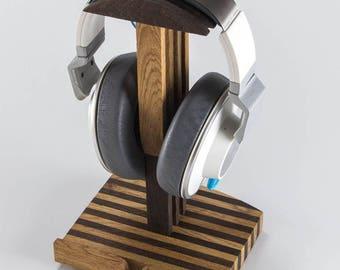 Headphone holder, wooden headphone stand, wooden headphone stand SP1, stand, gift for him, gift for musician, solid wood, headphone hanger