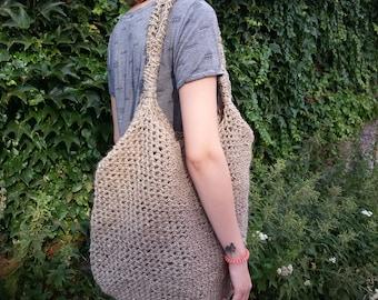 Handmade handbag linen yarn