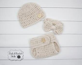 newborn boy crochet outfit, newborn crochet outfit, newborn crochet bowtie, newborn bowtie, newborn diaper cover,newborn crochet outfit