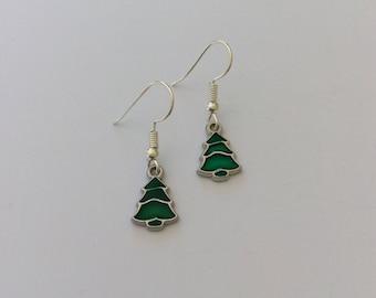 Cute Christmas tree earrings / Christmas tree jewellery / Christmas earrings / Christmas jewellery / Christmas gift