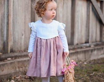 Maddie Dress, Linen Dress, Girl clothes, Girls Dress, Girls Clothes, Girls Dresses, Linen girls clothes, linen girls dress, Dress Girl Linen
