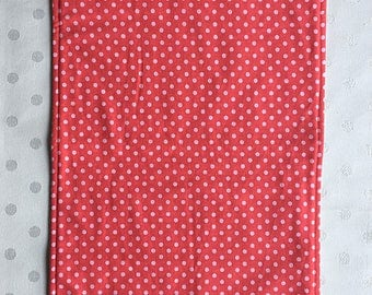 polka dot coral burpcloth