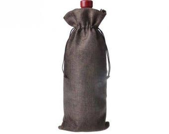 Jute Wine Bag, Burlap Bag, Wine Bag, Wine Box, Wine, Wine Accessories, Rustic, Rustic Wedding, Wedding Favors, Favors, Party Favors, Party
