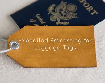Expedited processing for luggage tags