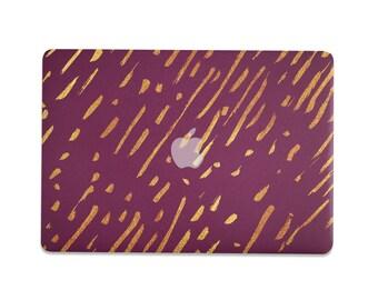 Gold Stroke MacBook Pro Case, mac book case, MacBook Pro case, Macbook Pro 13 Case, Macbook Case, macbook air case, MacBook Air 13 hard case
