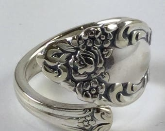 Baroque Rose spoon ring