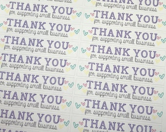 Thank You for Shopping Small Business Stickers | Package Stickers | Shipping Stickers | Maker Stickers | Small Business Stickers