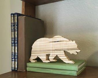 California State Bear, Wood bear, Wooden bear, Bear cut out