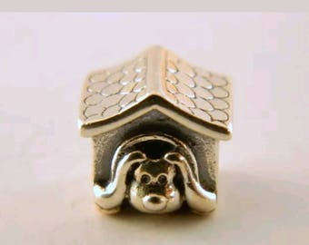 Pandora Dog House Charm/ New/Ale/s925/Threaded Core /_Sterling silver