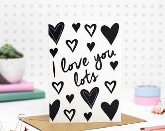 Anniversary card, Valentine's day card, Love card, card for him, card for her, boyfriend card, girlfriend card, cute card