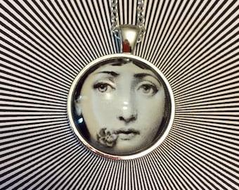 Fornasetti Jewellery / Fornasetti Pendant / Fornasetti gift / Italian artist