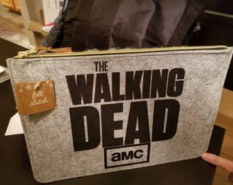 The Walking Dead Logo Felt Clutch