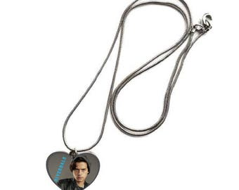 Supernatural Jughead Jones Cole Sprouse  Heart shaped Silver Tone Necklace
