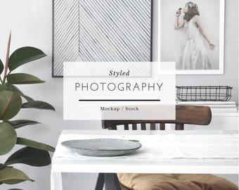 Styled Mockup Frame - Scandinavian Frame, Mockup Frame, Stock Image, Mockup gallery