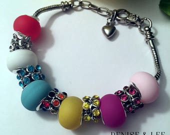 Rainbow European Beaded Bracelet