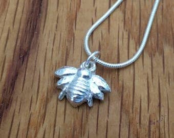 Silver Bumble bee pendant, Honey bee necklace, honey bee, bumble bee, pendant, necklace, bumble bee necklace, silver bumble bee, silver bee