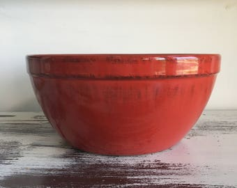 Red Kitchen Bowl made in Italy ~ Red with Black Hues ~ Batter Bowl ~ Mixing Bowl ~ Salad Bowl ~ Multi-Purpose Bowl