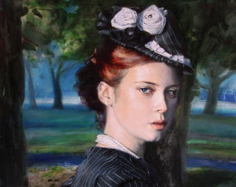 Custom oil painting on canvas, Custom Oil Portrait, Custom portrait on canvas, Commission portrait, Paintings from Photo, luxury gift