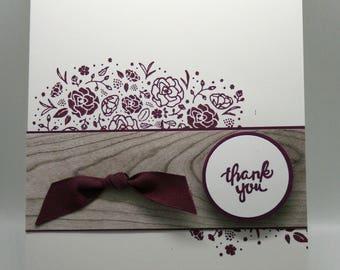 Thank You Card in Fresh Fig