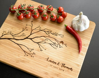 Personalised Cutting Board, Wedding gift, Anniversary gift, Birthday gift, Housewarming gift, Engraved wooden kitchen Board