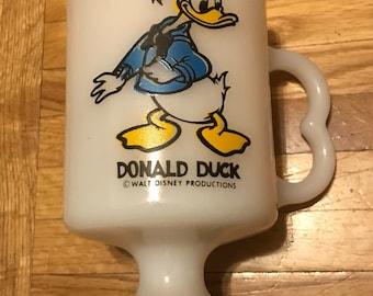 Donald Duck Milk Glass Mug
