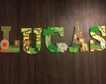 Jungle themed Letters