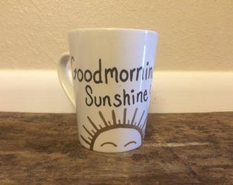 Good Morning Sunshine Hand Painted Mug