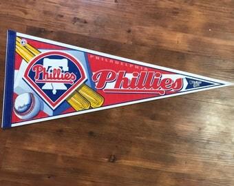 Vintage Philadelphia Phillies pennant 1990's MLB memorabilia World Series