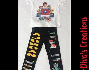 Paw Patrol Outfit, Paw Patrol Birthday Set, Paw Patrol Birthday outfit, Paw Patrol, Paw Patrol Birthday Shirt, Paw Patrol Outfit Boy