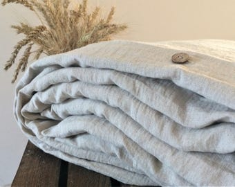 Natural linen bedding set Queen King Full Twin Double Single-eco stonewashed not dyed oatmeal linen duvet cover pillowcase sham-eco bedding