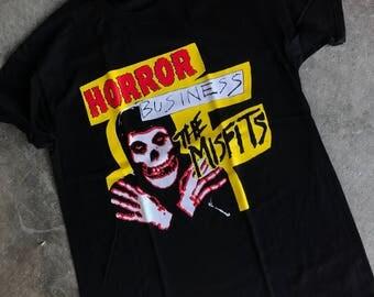 The misfits t shirt color black punk rock tee