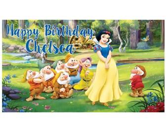 Snow White Banner Etsy