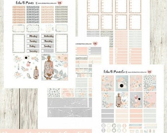 B2S SALE Spring Chique (Dark)/ Printable Planner Stickers/ Weekly Kit/Erin Condren/Cutfiles Fourth of July Fashion Glam Floral Glitter Diva