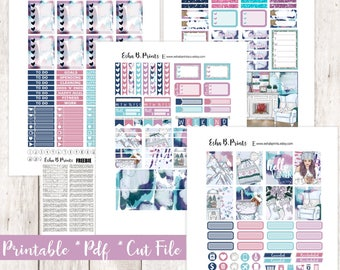 Winter Chill Printable Planner Stickers/Weekly Kit/For Use with Erin Condren/Cutfiles Fall December Glam Cozy Mittens Snow Winter