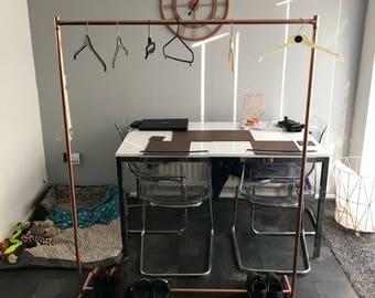 Copper clothes rail