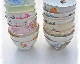 Sugar bowls, tea set, mismatch tea set, mismatch China, vintage China, high tea, vintage crockery, wedding crockery, wedding China, teaparty