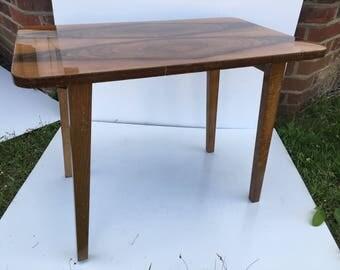 Walnut folding coffee table
