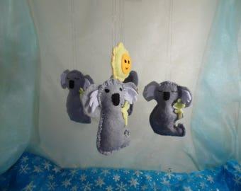 Koala Bear and Sun Nursery Mobile