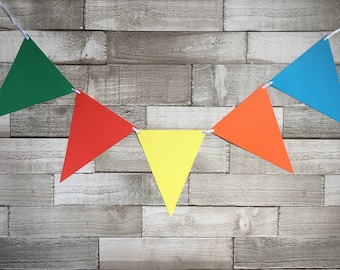 Bright bunting, party bunting, bbq bunting, garden party, festival bunting, party decorations, bedroom decor, children's party, party decor