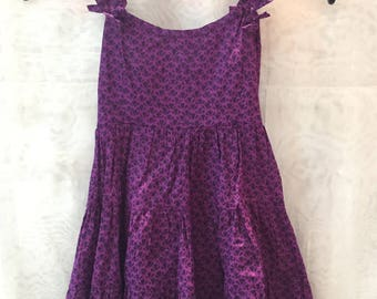 Print summer dress the lilac cotton girl.