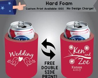 Wedding Hard Foam Wedding Can Cooler Double Side Print (HF-W3)
