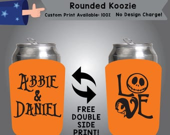 Name & Name Love Rounded Koozie Double Side Print (RK W8)