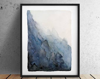 SALE / A4 print / Mountain print / Abscract landscape / Abstract watercolor  / Abstract painting